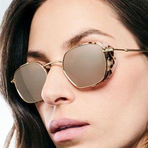 Krewe Ward Blinker 24K tortoise print sunglasses